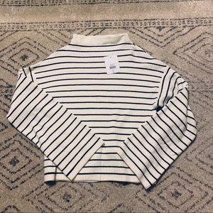 NWT - Topshop Cropped Stripe Sweater